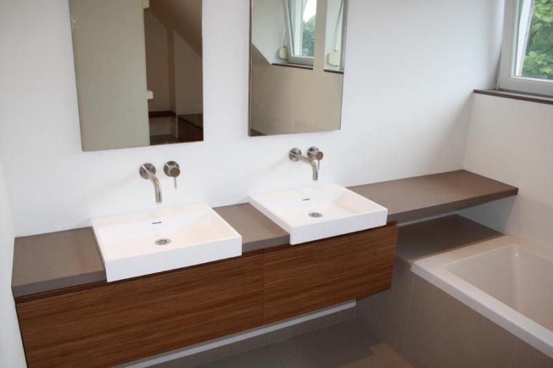 Badkamer ontwerp van design maatwerk badkamers - Badkamer met wastafel ...